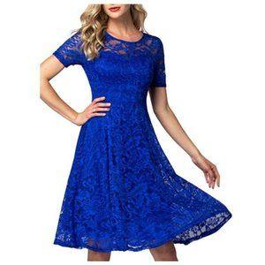 Lace Cocktail Dresses Elegant Swing Dress